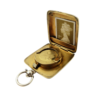 Antique George V Sterling Silver Sovereign Case 1914
