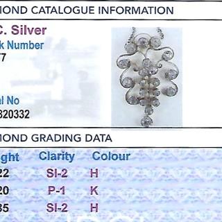 2.27ct Diamond and 14ct Yellow Gold Pendant - Antique Circa 1910