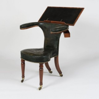 A Mahogany Reading Chair After a design by Thomas Sheraton