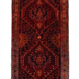 Handmade Hamedan Area Rug 312 x 142cm