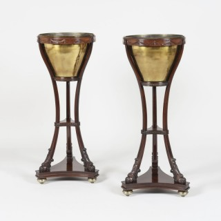 A Pair of Mahogany Jardinières In the Neoclassical Manner
