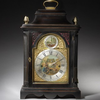 Extremely Rare George III 18th Century Quarter-Striking Bracket Clock, Signed