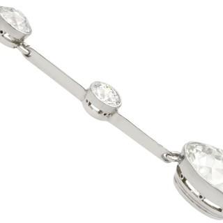 4.48 ct Diamond and Platinum Necklace - Antique Circa 1920