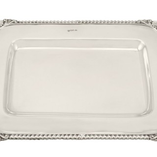 Sterling Silver Drinks Tray - Antique Victorian (1900)