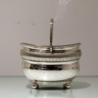 Antique George III Sterling Silver Double Tea Caddy London 1808 Rebecca Emes & Edward Barnard