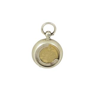Antique Edwardian Sterling Silver Sovereign Case 1904