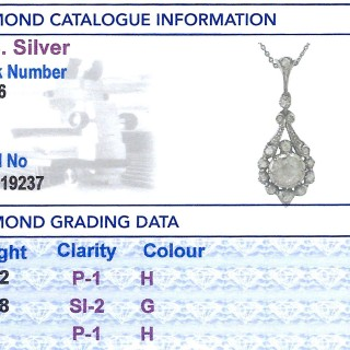 2.00 ct Diamond and 14 ct Yellow Gold Pendant - Antique Circa 1900
