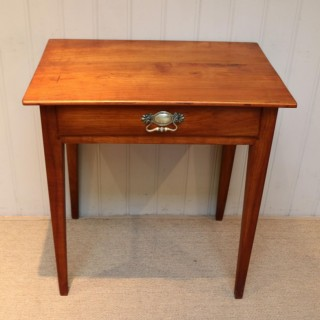 French Cherry Wood Side Table