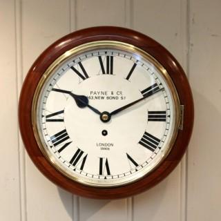 Mahogany 10' Fusee Dial Clock