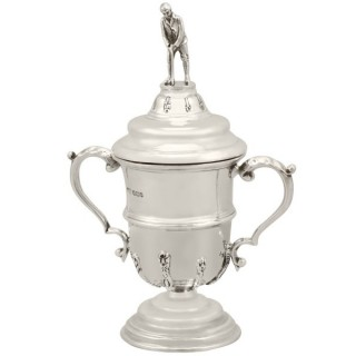 Sterling Silver Cup and Cover Antique George V 1933