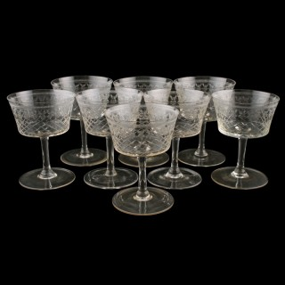 Set of Eight Champagne Glasses