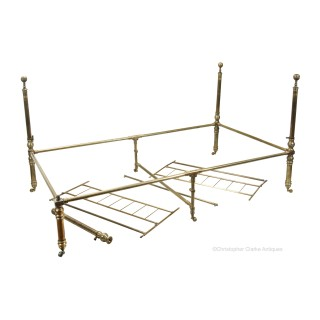 Brass Campaign Bed Attributable to J.T. Thompson