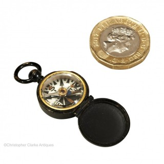 F. Barker & Sons Brass Fob Compass