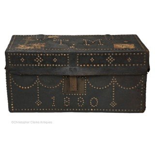 Leather Trunk Dated 1890