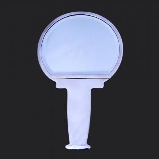 An Archibald Knox Cymric silver modernist hand mirror