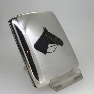 Silver and Enamel Cigarette Case