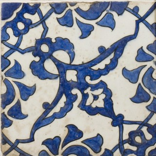 A panel of four square Ottoman Empire 'Dome of the Rock' tiles