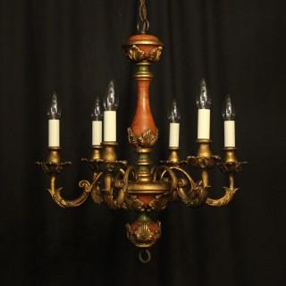 Florentine 6 Light Polychrome Chandelier