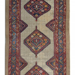 Antique Kurdish Runner Rug 150x327 cm