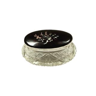 Antique Sterling Silver & Tortoiseshell Vanity Jar 1925