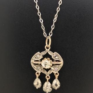 Georgian Diamond Set Drop