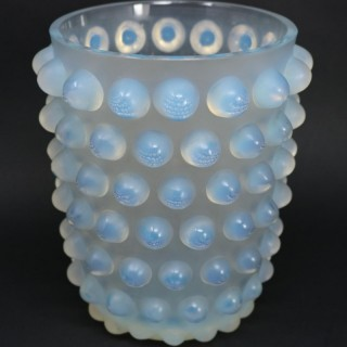 Rene Lalique Opalescent Glass Mossi Vase