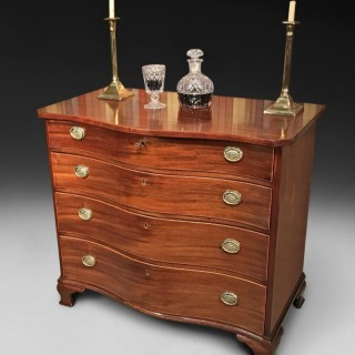 George III Mahogany Small Serpentine Chest of Drawers