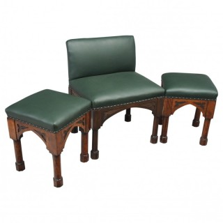 Suite of Late 19th Century Gothic Stools