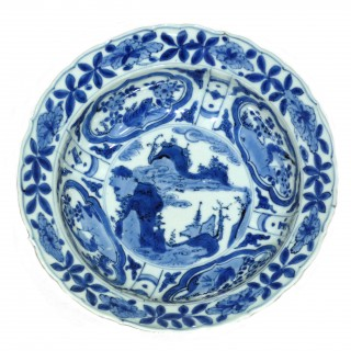 Chinese Ming Kraak Porcelain Bowl