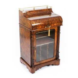 Antique Victorian Walnut Music Cabinet Davenport Desk c.1860 19th C