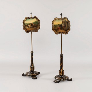 A Pair of Pole Screens Attributed to Jennens & Bettridge