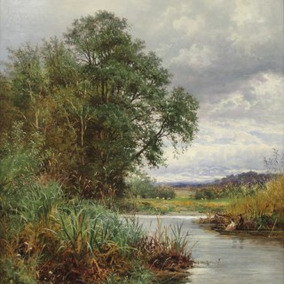 'A Reedy Nook on the Thames at Streatley'