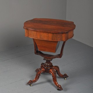 Victorian Rosewood Work Table / Occasional Table