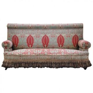 C.F.A. Voysey (1857-1941) Arts & Crafts Upholstered Sofa, Circa 1900