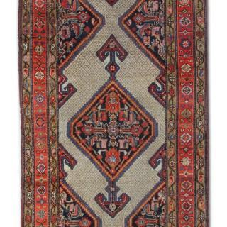 Antique Persian Hamadan Runner Rug 100x400cm