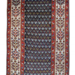 Antique Kurdish Persian Runner Rug 140x388cm