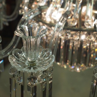 19th Century Crystal Tent and Waterfall Chandelier