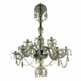 A LARGE EARLY XIX CENTURY VENETIAN CHANDELIER