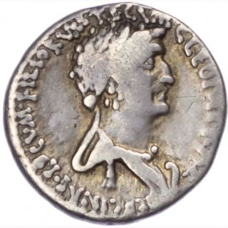 MARK ANTHONY AND CLEOPATRA, SILVER DENARIUS