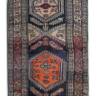 19th Century Karabagh Runner Rug 105x244cm
