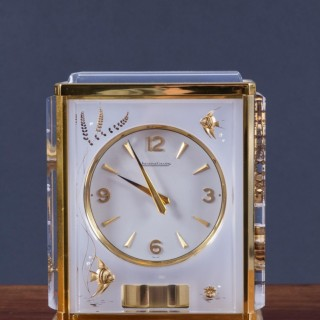 Jaeger Le Coultre Marina Atmos Clock Featuring Fishes