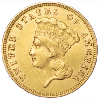 USA, 3 GOLD DOLLARS, 1859, PHILADELPHIA