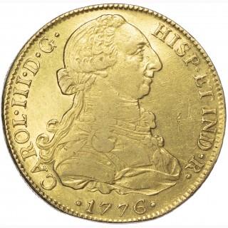 MEXICO, CARLOS III (1759-1788), GOLD 8 ESCUDO, 1776
