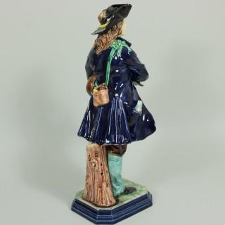 Hugo Lonitz Figure of a Bagpiper