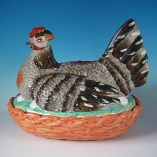 Monumental Sized Staffordshire Hen on Nest Tureen