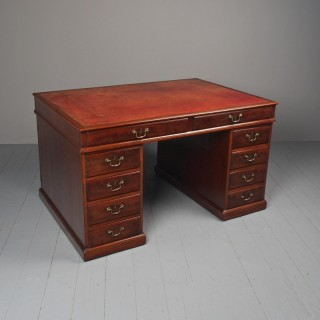 George III Mahogany Partners Desk