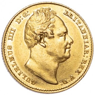 WILLIAM IV (1830-37), SOVEREIGN, 1833, SECOND BUST