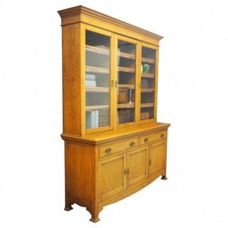 Art Nouveau Oak Cabinet Bookcase