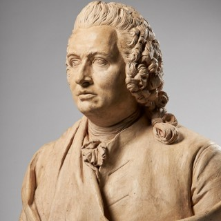 An Impressive 18th Century French Terracotta Bust of a Gentleman