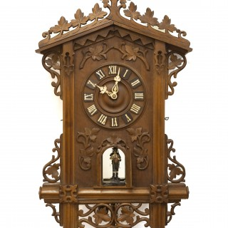 Emilian Wehrle Black Forest Trumpeter Wall Clock